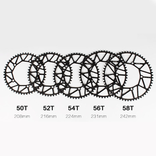 Bicycle Crank Narrow Wide Chainring Ultralight 130 BCD 50T 52T 54T 56T 58T Hollow BMX Folding_640x640 bicycle crank narrow wide chainring ultralight 130 bcd 50t 52t 54t