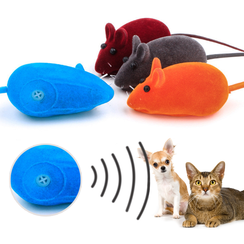 Cute Cat Toys Plush Mouse Toy For Cats Soft Mouse Mice Cat Toy Mouse Press to sound 35WD-in Cat