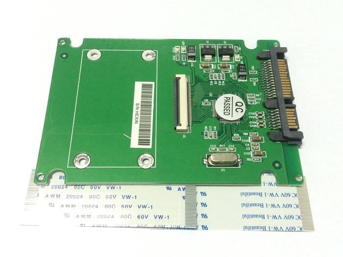 "40Pin CE/ZIF 1.8"" SSD Convert to 15+7 22pin 2.5"" SATA Hard Disk Drive Adapter Card Converter with Ribbon for Hitachi Toshiba HDD"
