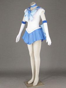 Image 2 - セーラームーンのアニメコスプレセーラー水銀/水野亜美ユニセックス原宿ハロウィーンパーティーコスプレ衣装カスタマイズすることができます