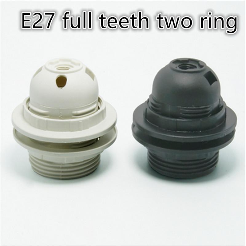 دارنده سوکت لامپ پلاستیک E27 10pcs / lot E27 پیچ ادیسون سوکت لامپ لامپ DIY E27 پایه سوکت حمل و نقل رایگان