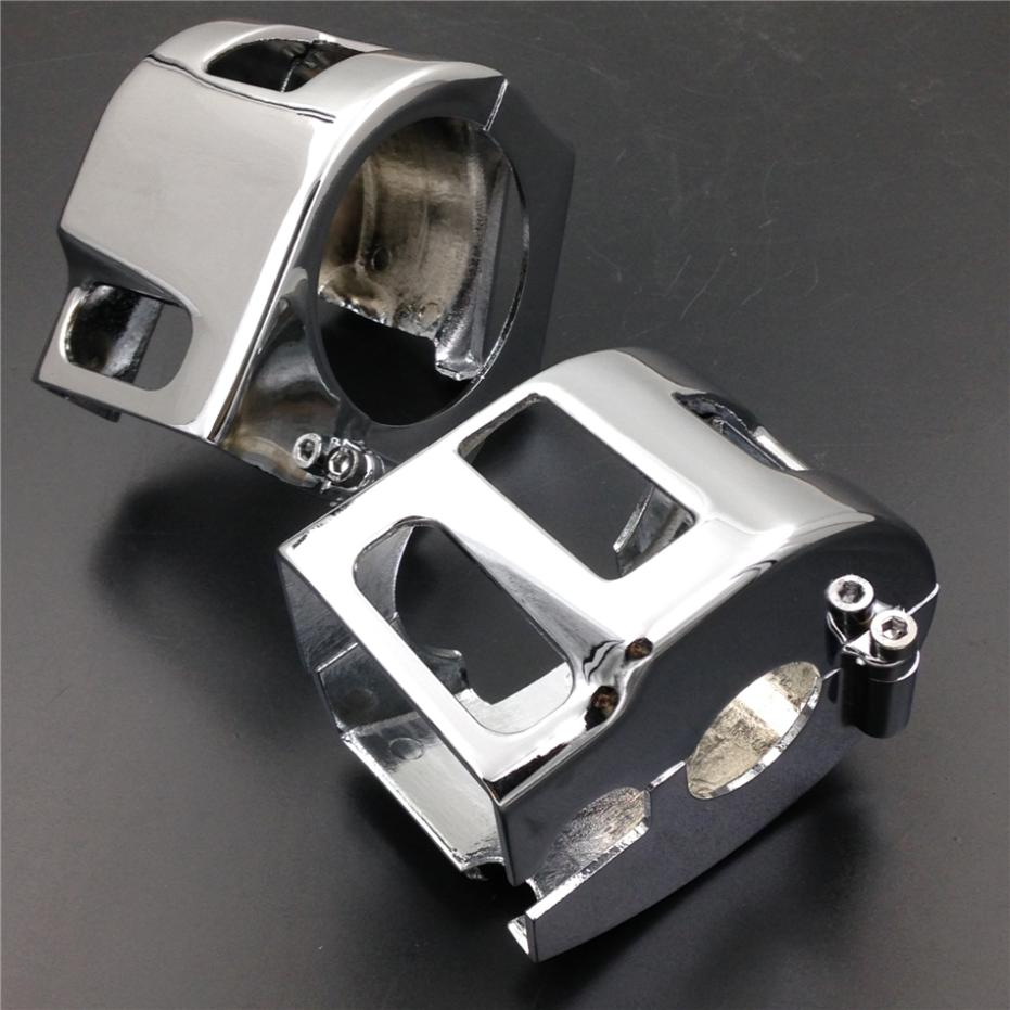 Chrome Switch Housing <font><b>Covers</b></font> For Kawasaki Vulcan 900 2000 <font><b>Yamaha</b></font> Roadstar <font><b>XVS</b></font> V-star <font><b>650</b></font> Suzuki Boulevard M95 Motorcycle Parts image