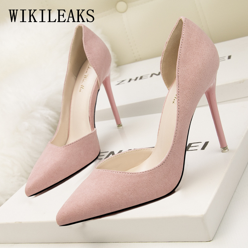 designer wedding shoes woman flock extreme high heels pumps luxury brand bigtree shoes women stiletto salto alto zapatos mujer