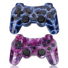Bevigilac controle duplo bluetooth wireless, console de jogo, joystick para sony playstation ps 2 3 ps3 ps2 acessórios