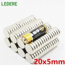 LEDERE N52 10 шт. 20x5 мощные Дисковые магниты диаметром 20 мм x 5 мм редкоземельный неодимовый магнит 20*5 20 мм* 5 мм супер магнит ручной работы