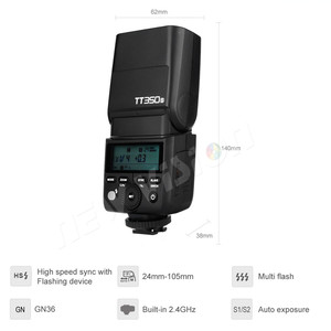 Image 3 - を Godox ミニスピードライト TT350S Ttl HSS GN36 ソニー一眼レフカメラ A7 A6000 A6500
