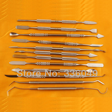Good Quality 12-Piece Steel Double-Sided Wax Carvers Tool Set Carving Knife Clay Pottery Sculpture Jewelry Making Tools