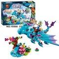 214 unids/set El Dragón de Agua Aventura Ladrillos de Construcción Bloques juguetes Educativos BRICOLAJE Compatible Legoe Elfos