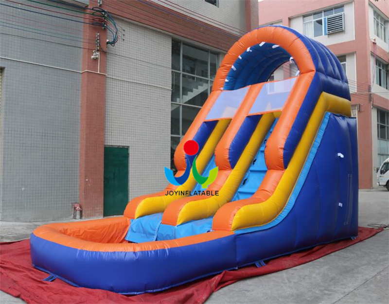 2018 JoyInflatable 7X3.5X5M Attractive Playground with Small Swimming Pool Inflatable Kids Slide for Sale