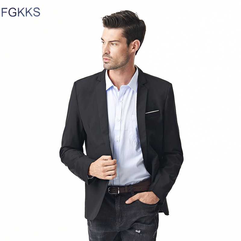 FGKKS Clothing Jacket Slim Male Suits Casual Blazers Men