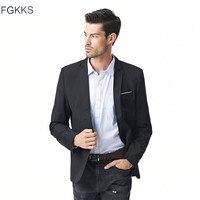 2016 Hot Sale Brand Clothing Autumn Suit Blazer Men Fashion Slim Male Suits Casual Solid Color