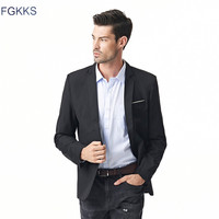 2016 Hot Sale Brand Clothing Autumn Suit Blazer Men Fashion Slim Male Suits Casual Solid Color