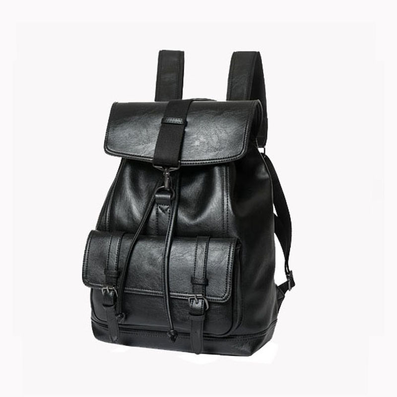 New Leather Rucksacks Men Couple lovers Leisure Backpacks Male Drawstring  Daypacks Fashion Travel School Bags for Teenagers d3fed4d684f39