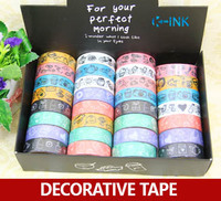 32 rolls / set Line Drawing Pattern Useful Life Style Washi Adhesive Tape for Scrapbooking / Decoration