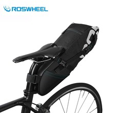 ROSWHEEL Bicycle Saddle Bag 8L 10L Waterproof Road Mountain Bike Rear Seat Bag Tail Package Panniers Cycling Bag Accessories