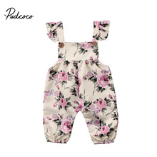 Baby Sleeveless Floral Jumpsuit 0-24M