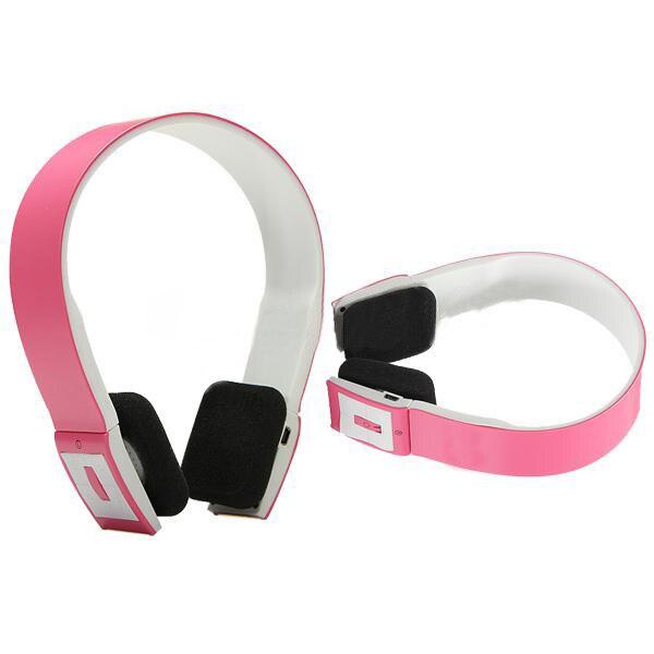 CES-2.4GHz Wireless Bluetooth 3.0 Headset Earphones Headphones Pink цена и фото
