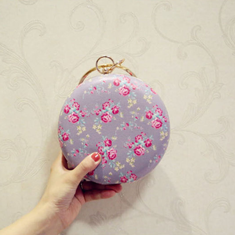 Purse Clutches Evening-Bags Minaudiere Flower Famosa Women's De Marca Bolsos Mujer
