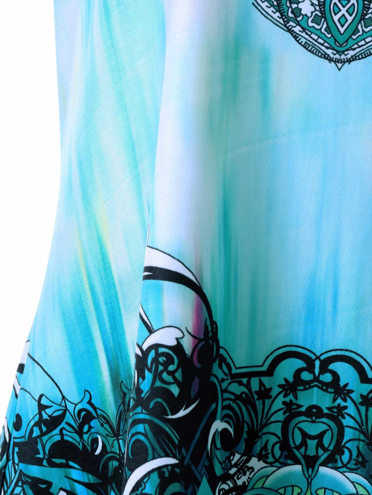 Wipalo Plus Size Graphic Handkerchief Tunic Top Summer Women Tank Casual V-Neck Fashion Crochet Panel Tank Top Big Size Clothes