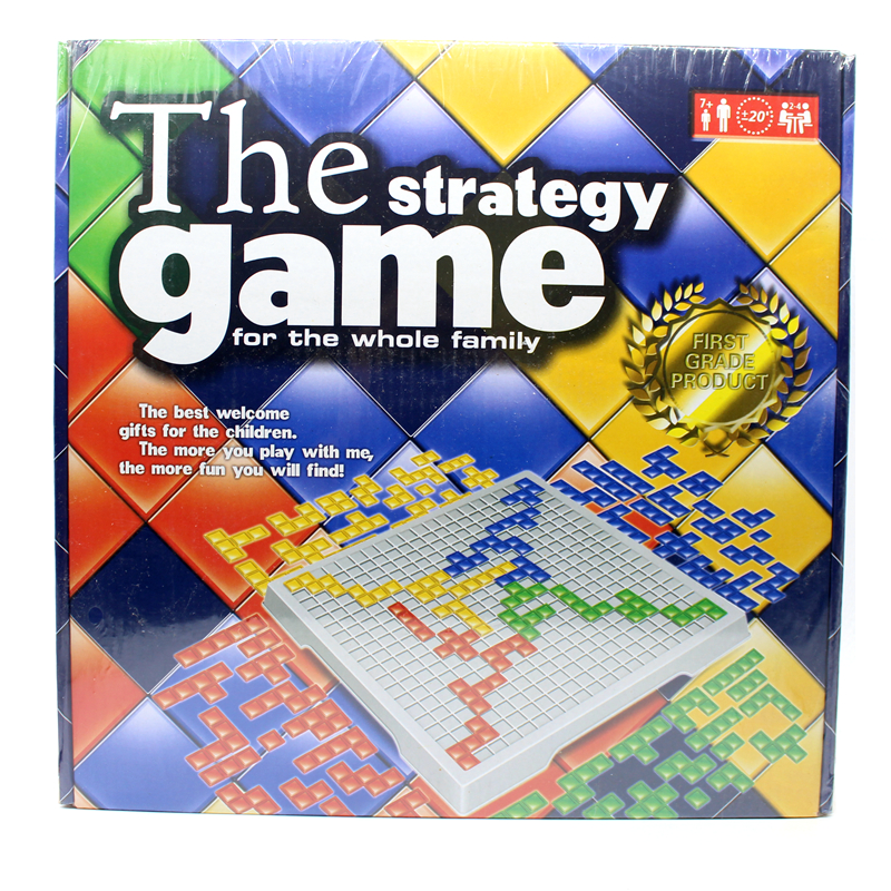 The Strategy Game Blokus Board Game Educational Toys 484 Squares Game Easy To Play For Children Russian Box Series indoor games classic wooden quarto board game 2 players to play funny party games strategy chess game puzzle game