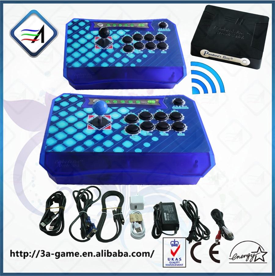 Arcade Controller Kit 2 Players Joystick Pandora's Box Wireless Arcade Fighting Stick with Pandora Box 4S 680 to PC PS3 XBOX360