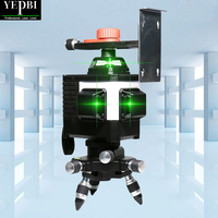 Yepbi 12 Lines 3D Cross Line Laser Level Green Laser Beam Line Self Leveling 360 Vertical A Horizontal Cross Super Powerful