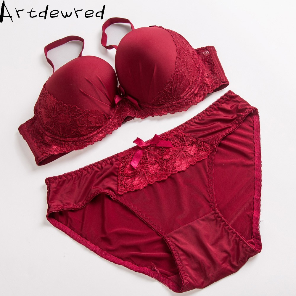 Plus Size   Bra     Set   90D 95DD 100E 110 Cup Underwear Oversized Lace Women Lingerie Puse Up   Bra   &   Brief     Sets   Sexy Intimates Hot sale
