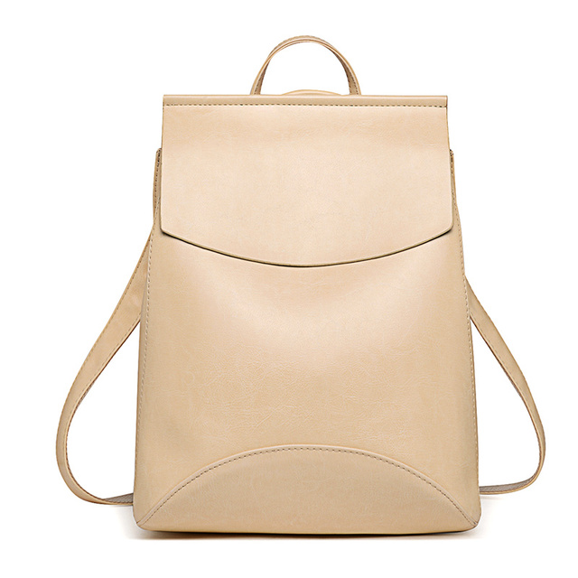 Youth Leather Shoulder Backpacks