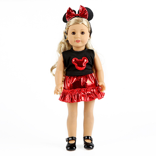 New Short Set Dress for American girl 18inch doll clothes for children best gift image