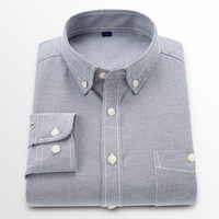 1 Spring Autumn Long Staple Cotton Oxford Shirt Long Sleeve Men Blouse Social Casual Shirts Classic Mens Dress Shirts GT01