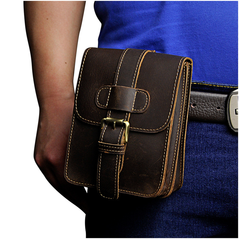 leather homens waist bolsa travel Suit For : Men/father's Day/boys