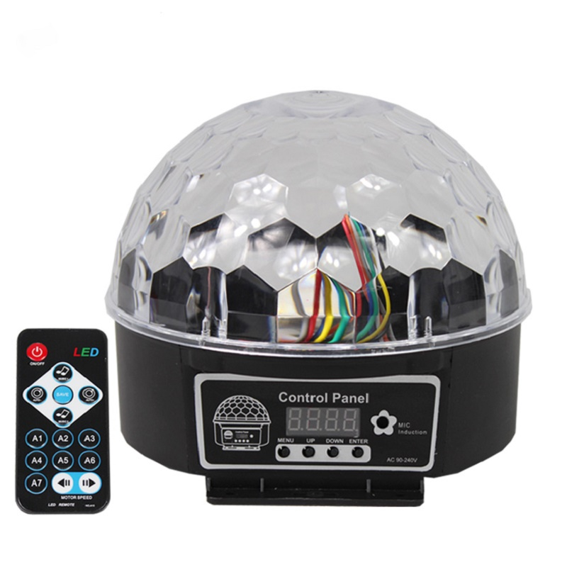 Голосовое управление мобильным head стиле диско Цифровой RGB Кристалл magic ball световой эффект Дискотека DJ сцены