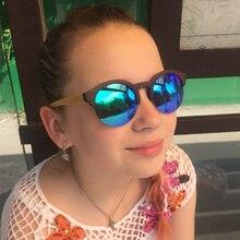 Neue mode Runde Rahmen Holz Sonnenbrille Frauen Retro Gafas Handgemachte Bambus Holz Sonnenbrille LS5020
