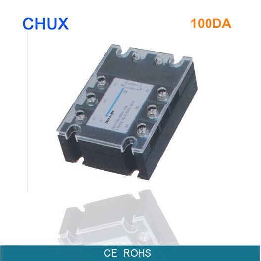 ФОТО free shipping 100A Three Phases 220v voltage Solid State Relay SSR DC control AC (ZG33-100DA)