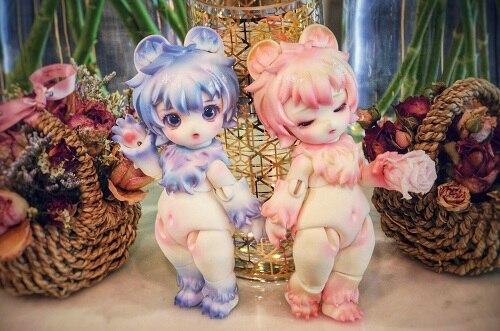 2019 nouveau 1/6 BJD cosplay ours modèle animal pour collection cadeau avec deux visage