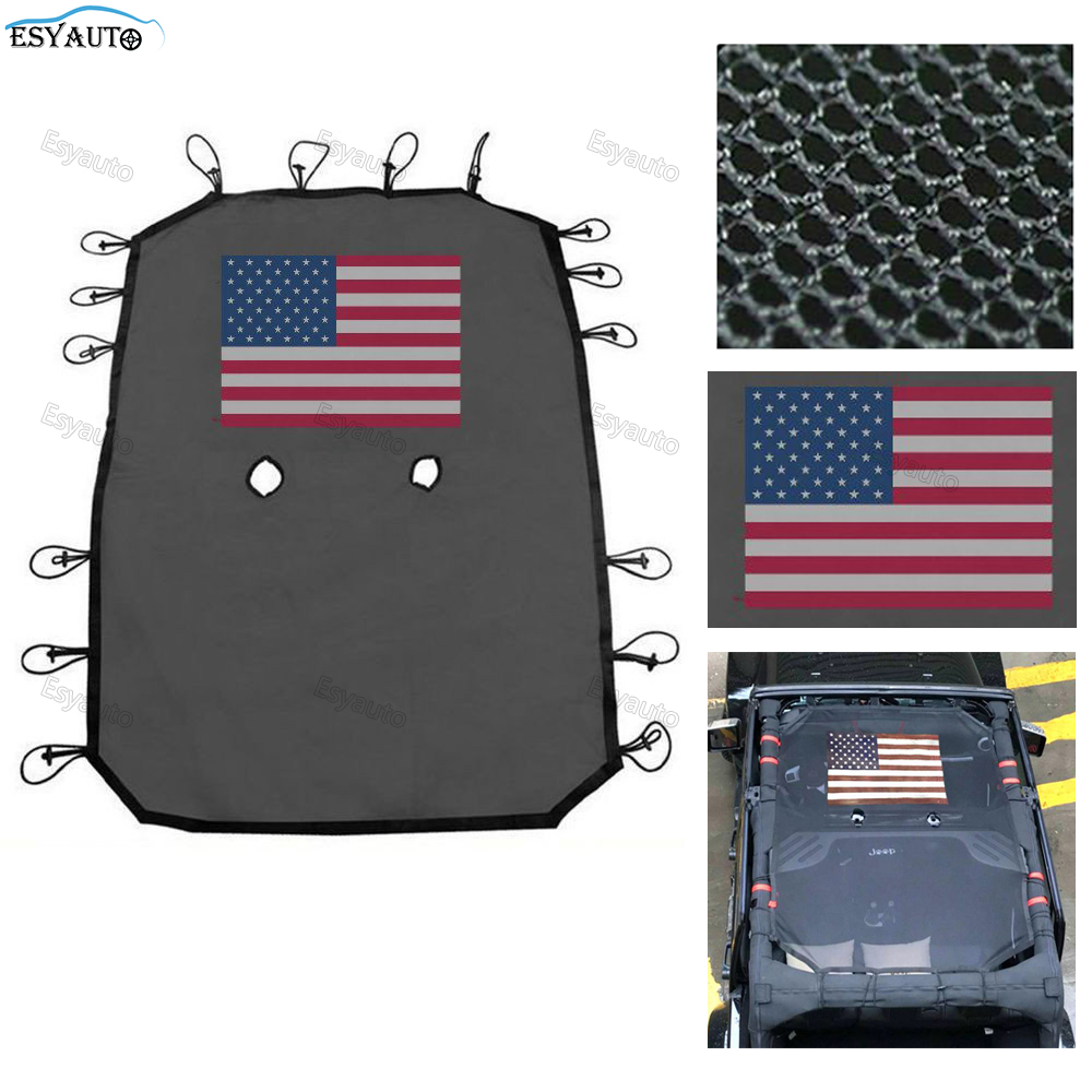 Фотография Car Sticker Car Covers Mesh Shade Top Cover Provides UV Protection SunShade Mesh UV Protection Bikini Top Cover Net for Jeep