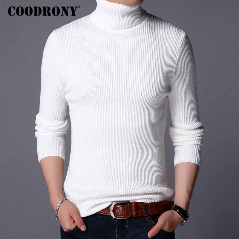 COODRONY Christmas Sweater Men Clothes 2019 Winter Thick Warm Mens Sweaters Casual Classic Turtleneck Cashmere Pullover Men 8253
