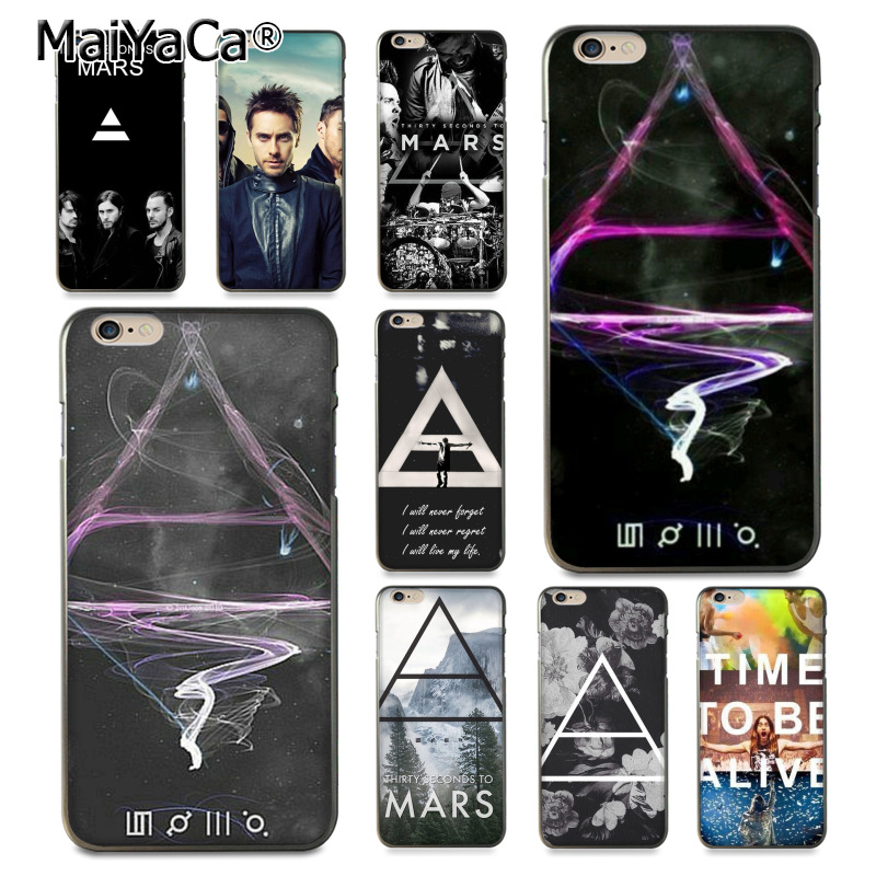 MaiYaCa 30 Second To Mars 30STM Coque Shell Phone Case for Apple iPhone 8 7 6 6S Plus X 5 5S SE 5C Cover