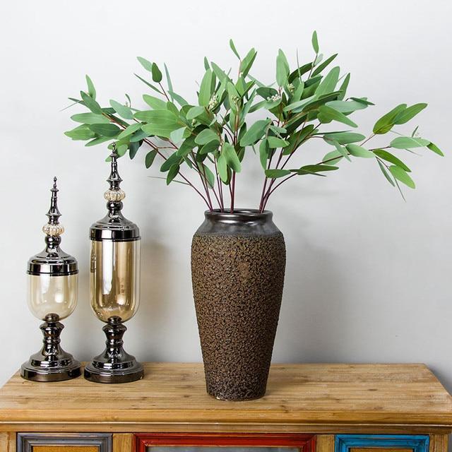 flone artificial flower gold money leaves eucalyptus leaves