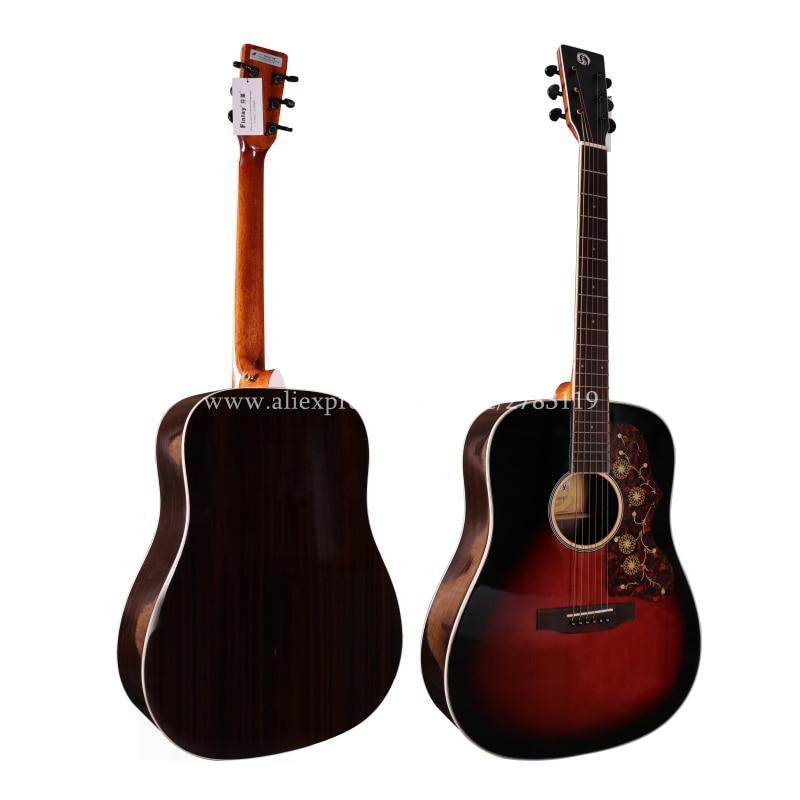 buy professional full size solid top guitar 41 acoustic guitar solid spruce. Black Bedroom Furniture Sets. Home Design Ideas