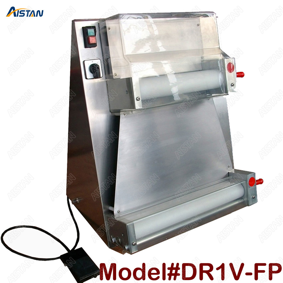 DR1V/DR1V-FP electric counter top stainless steel pizza dough roller machine pizza making machine dough sheeter 2