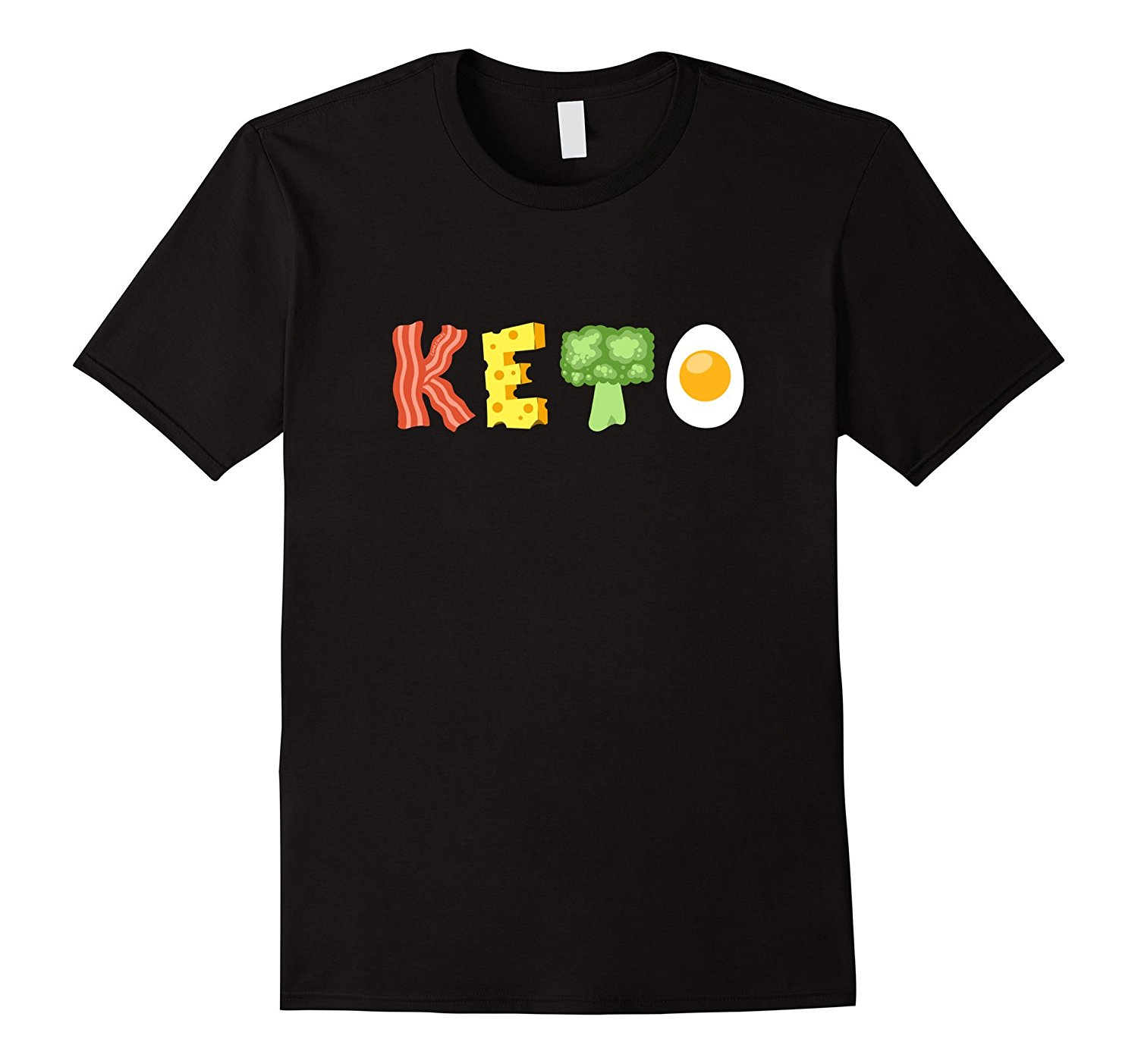 Keto Low-Carb Diet T-Shirt 100% Cotton Printed Novelty Cool Tops Men'S Short Sleeve Tee