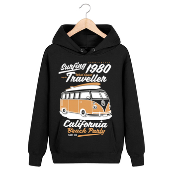 Bloodhoof Letter Locomotive Printing Black Cotton Men Pullover Cashmere Unisex New Tops Hoodie Asia Size