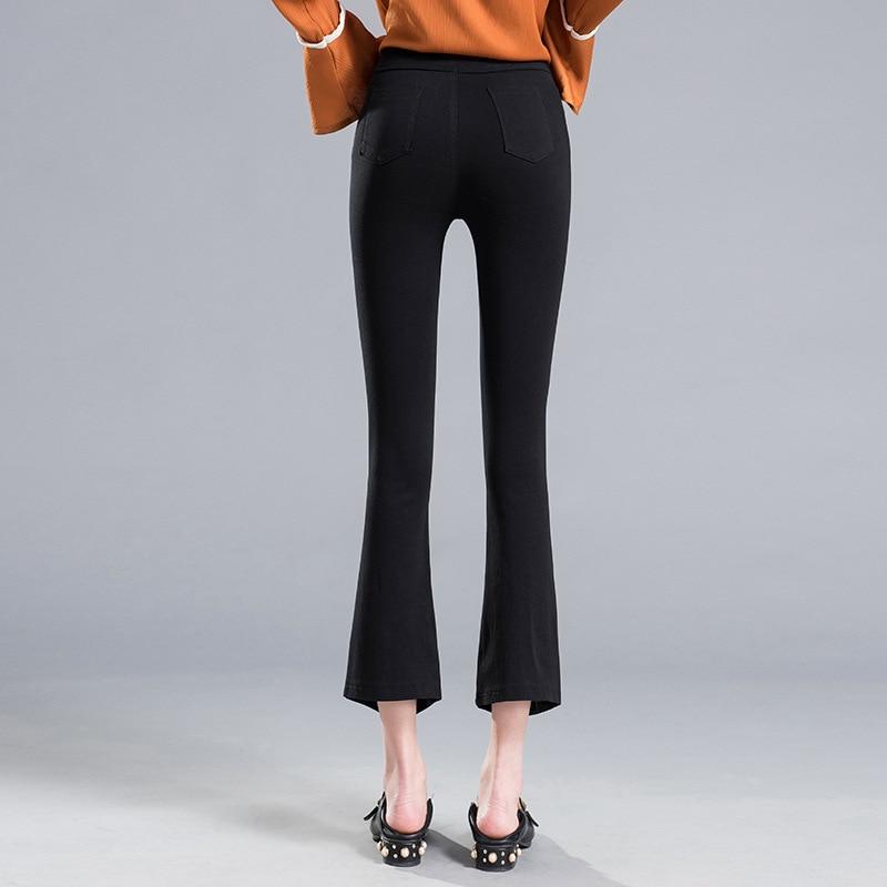 Ketika mikro pinggang tipis celana wanita tidak teratur hem celana - Pakaian Wanita - Foto 2