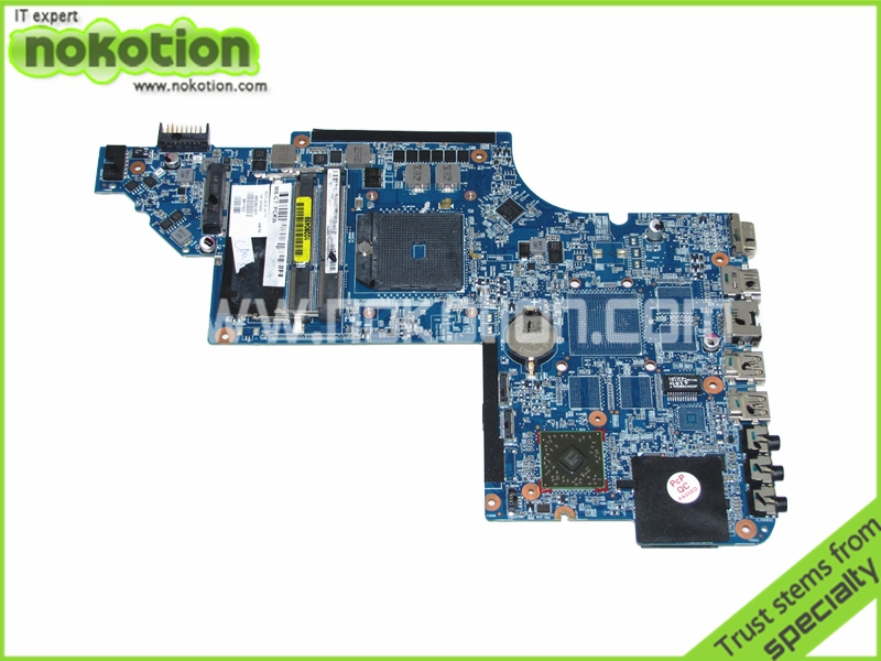 NOKOTION 665282-001 for Hp Pavilion dv6-6000 laptop motherboard socket fs1 good quanlity tested for hp pavilion dv6 6000 notebook dv6z 6100 dv6 6000 laptop motherboard 650854 001 main board ddr3 hd6750 1g 100%