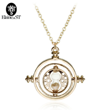 Top Grade Silver Time Turner necklace Movie Hourglass Converter pendant necklace For Men And Women Gift Free Shipping