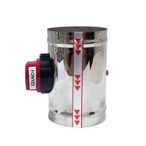Image 3 - 150mm stainless steel electric air duct damper valve air motorized valve for 6 inch ventilator pipe check valve 220V 24V 12V