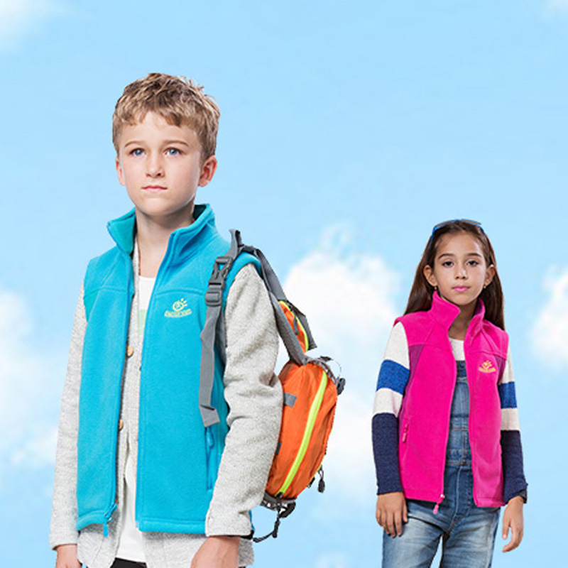 Children s Winter Fleece Thermal Vest Jackets Outdoor Sports Girls Boys Brand Coats Kids Camping Hiking