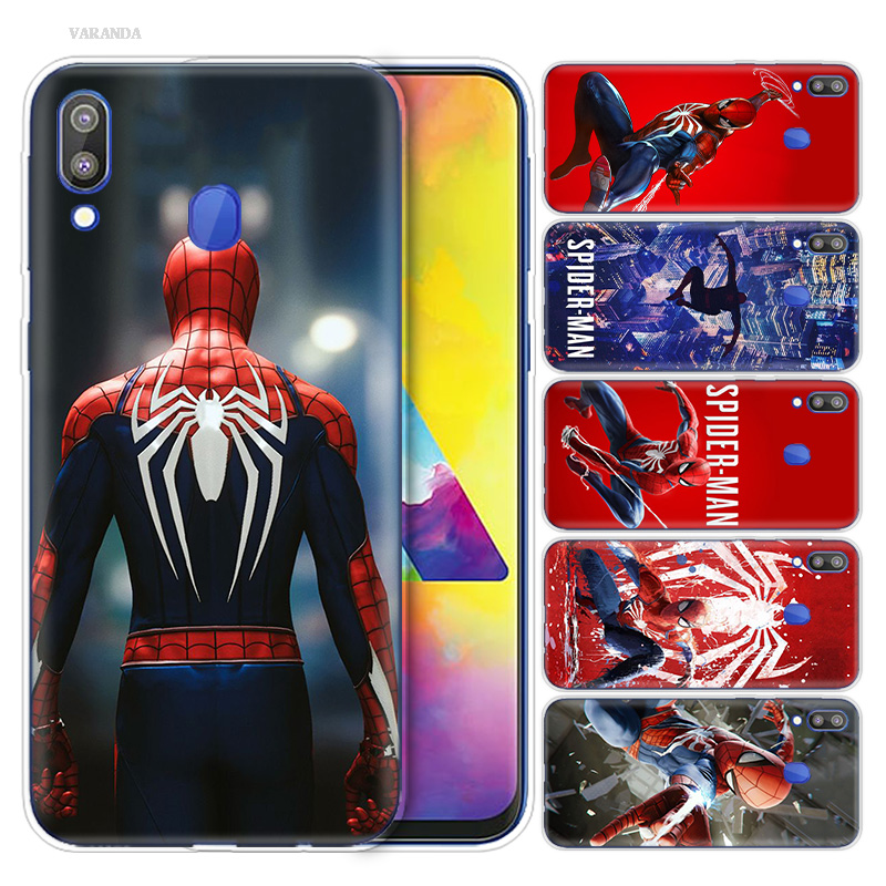 Spiderman Homecoming <font><b>Cartoon</b></font> <font><b>Case</b></font> Capa for Samsung Galaxy S10 S10e S10 5G Plus M10 M20 M30 A10 A20 A30 A40 <font><b>A50</b></font> A70 Fundas Capa image
