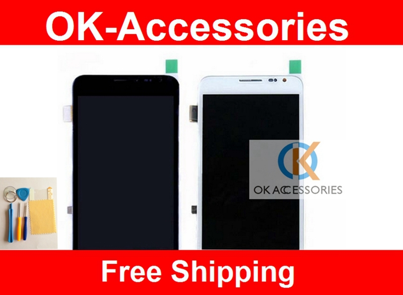ФОТО Black White For Samsung Galaxy Note N7000 I9220 LCD+Touch Screen Digitizer+Frame+Screen Protector+ Tools 1PC/Lot